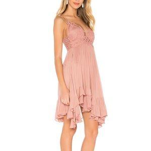 Free People Dresses - NWOT FREE PEOPLE ADELLA SLIP DRESS SZ SMALL ROSE